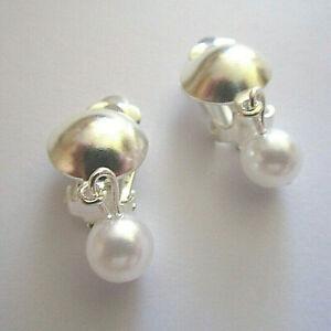 1 Paar Modeschmuck Clips Ohrringe mit grünem Strass 2cm Rechteck