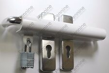 250U Patio Conservatory French Double Door Dead Lock Security Device + PADLOCK