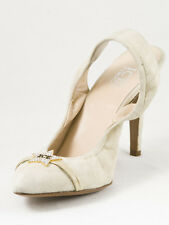 New  Iceberg Off White Suede Sandals Size  37.5 US 7.5