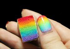 8 Pcs. Uñas Sello Nail Art Estampación Esponja Manicura Farbverlauf