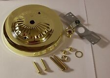 "5"" BRASS PLATED CEILING CANOPY KIT FOR LIGHT FIXTURES LAMP PART NEW 54615J"
