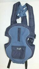 Vtg '03 Snugli Blue Infant Baby Carrier 0441443 Braided Straps CLEAN Lightweight