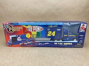 "HASBRO 1998 Winners Circle Jeff Gordon ""Race N' Play Transporter"" - BOXED"