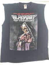Blackest Of The Black 2004 Tshirt Size Xl Cut Off Sleeves