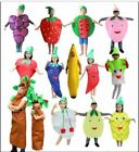 Kids fruit vegetable costumes Suits outfits for Fancy Dress party unisex