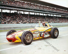 EDDIE SACHS 1963 INDY 500 AUTO RACING 8X10 PHOTO