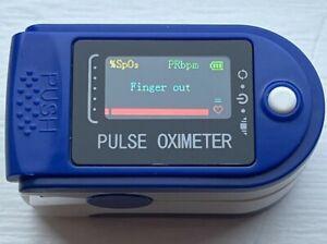 Fingertip Pulse Oximeter Blood Oxygen  SpO2 Finger ^ Pulse Monitor Next Day Del.