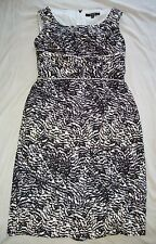 ALEX MARIE Black/Lavender/White Woman's Dress Size 4 back Zip Cute Lined