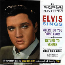 "ELVIS PRESLEY  ""RETURN TO SENDER""     R&R    RED VINYL"