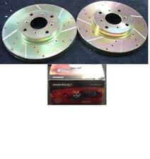 HONDA PRELUDE 2.2 2.3 1992-1996 DRILLED GROOVED BRAKE DISC MINTEX BRAKE PADS