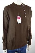 OvP 80er NOS 80s Damen Pullover True VINTAGE Gr. L / XL braun Pulli DRALON