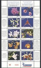 Costa Rica 2007 Orchids/Flowers/Plants/Nature/Conservation 10v m/s (n34312)