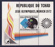 bloc   Tchad   jeux olympiques de Munich 1972  oblitéré