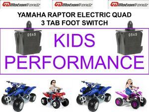 YAMAHA RAPTOR ELECTRIC QUAD NEW 3 TAB FOOT SWITCH