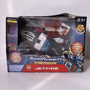 New MISB Rare Hasbro Transformers Energon JETFIRE Action Figure New Damaged Box
