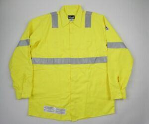 Bulwark FR Flame Resistant Hi Vis Shirt Men's XL LN Long New High Visibility
