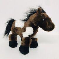"Webkinz GANZ 10"" Brown & White Pinto Horse Pony - Plush"