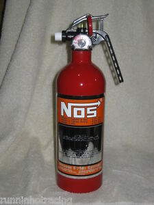 Fire Red Nitrous Bottle NEW Fire Extinguisher NOS DECAL NX ZEX Rat Hot Rod