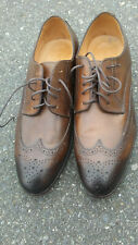 VERO CUOIO Men's Brown Leather Oxfords Dress Lace Up Shoes Size 43 MADE ITALY