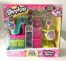 SHOPKINS FASHION SPREE SHOE DAZZLE PLAY SET WITH 2 EXCLUSIVE SHOPKINS - NEW!