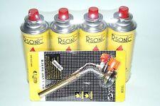 Gasbrenner Lötbrenner langer Brenner Flambierer Bunsenbrenner + 4 Gaskartuschen