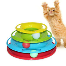 Pet Cat Crazy Ball Disk Interactive Toys Amusement Plate Trilaminar Funny Toy EB