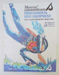 NEMROD SEAMLESS PROFESSIONAL DIVE EQUIPMENT CATALOG - 1960's?