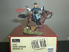 BRITAINS 17484 UNION CAVALRY PRIVATE MOUNTED NO.6 METAL TOY SOLDIER FIGURE SET