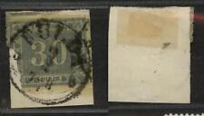 """Preussen 21, 30 Kr Stempel """"FULDA"""" auf Briefstueck Mi: 650,00  #d208"""
