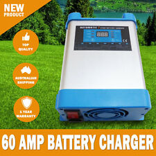 NEW 7 Stage 60 amp Fully Automatic Caravan RV Battery Charger Suits 40 to 400Ah