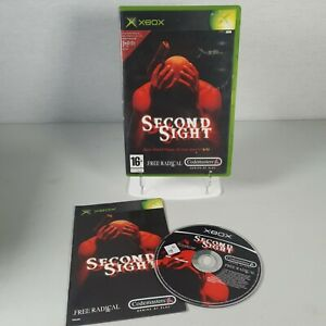 Second Sight Original Xbox Thriller Action Video Game Manual PAL