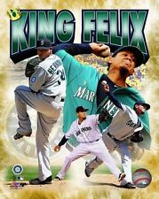 FELIX HERNANDEZ King Seattle Mariners LICENSED un-signed poster 8x10 photo