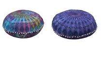 32 Large Cushion Floor Bohemian Round Mandala Cover Throw Case Pillow Cover 2 Pc