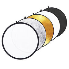 """23""""/58.5cm 5in1 Collapsible Round Reflector-Silver/Gold/BK/WT/Translucent+Bag"""