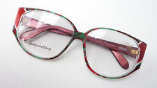 70erJahre Luxury Socket Women's Glasses Large Red - Green Silhouette Strikingly