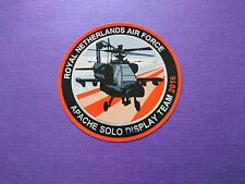 Royal Netherlands Air Force Apache solo display team 2016 sticker * new