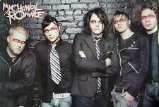 "MY CHEMICAL ROMANCE ""GROUP IN FRONT OF BRICK WALL"" POSTER FROM ASIA - Emo Music"