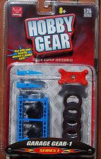 16061 Reifenhandel Regal Reifen Rampe Rollbrett Garage Gear 1, 1:24, Hobby Gear