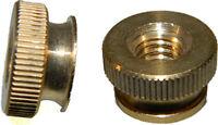Solid Brass Knurled Thumb Nuts 1/4-20 Qty 25