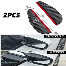 2x Black Carbon Fiber Mirror Rain Visor Guard Fit For Honda Models Fits 1991 Honda Civic