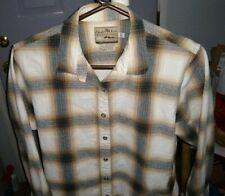 Women's  Powder River  Shadow Plaid   Pearl snap    blouse top  LARGE
