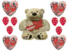 Cuddle Bear Valentines Balloon Bouquet I Love You Balloon Cluster Sweetest Day