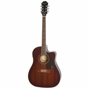EPIPHONE AJ-220SCE Western Guitar Mahogany Burst