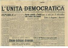 L'UNITA' DEMOCRATICA 29 MAGGIO 1946