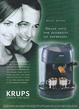 "Krups Artese ""Expect The Best"" 2001 Magazine Advert #1956"