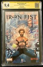 Marvel Premiere #15 (2016) CGC 9.4 Signed Finn Jones Roy Thomas Jay Anacleto