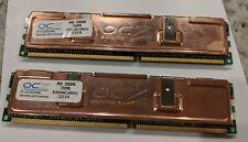 OCZ 256mb DDR 400 PC 3200 Desktop Memory Dual Channel (2 sticks)