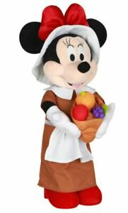 Fall Holiday Thanksgiving Disney 24 in Tall Minnie Mouse Pilgrim Greeter NWT