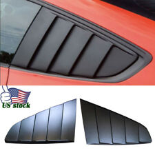 Fit Ford Mustang 2015-2017 GT-Style Side Vent Window Quarter Scoop Louver Cover