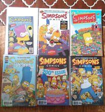 SIMPSONS COMICS 1, 50, 100, 200, 245, Stories 1 ,& Bongo FCBD 2005-2018 Set